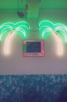 kitsch neon lights | Found on ffffound.com