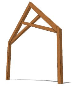 Scissor Truss - Timber Frame HQ  Timber frame scissor trusses do not have a horizontal chord. This gives the area a more visually open appearance. This cathedral-ceiling look has inclined chords, which supports the rafters and ties the members into places. - http://timberframehq.com/scissor-truss/