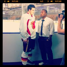 Lance Bouma goes one-on-one with Cabbie in LA. Vancouver Canucks, Calgary, Behind The Scenes, Jackets, Down Jackets, Jacket