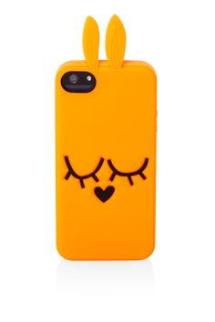 Katie Bunny (Orange)  Silicon Case for iPhone 4/4s/5