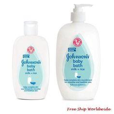 Johnson s Baby Bath Milk Rice Shower Bath Jo Johnson s Baby Bath Mi Baby Skin Care, Baby Care, Johnson Baby Bath, Suave Shampoo, Baby Milk Bath, Baby Shower Baskets, Baby List, Bath Soap, Carters Baby Boys