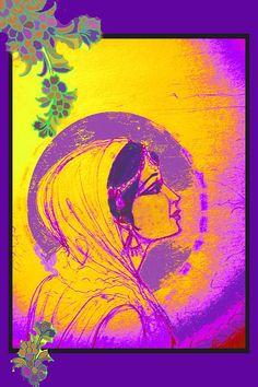 Radha, indian art, modern woman
