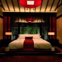 Japanese Bedroom Interior Decor Japanese The Aesthetics Of Japanese listed in: japanese interior design Asian Style Bedrooms, Asian Bedroom, Bedroom Red, Home Bedroom, Bedroom Decor, Bedroom Ideas, Master Bedroom, Decorating Bedrooms, Bedroom Designs