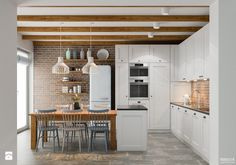 Projekt wnętrz domu jednorodzinnego w Krakowie - Kuchnia, styl skandynawski - zdjęcie od PRØJEKTYW | Architektura Wnętrz & Design | white kitchen inspiration | cottage | classic kitchen | inspiration |