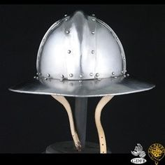 Kettle Hat Helmet. The kettle hat or chapel der fer was widely worn on the battlefields of Europe from the 12th to the 15th century.