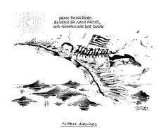 """OÖN-Karikatur vom 20. Juni 2015: """"Tsipras Airlines"""" Mehr Karikaturen auf: http://www.nachrichten.at/nachrichten/karikatur/ (Bild: Mayerhofer)"""