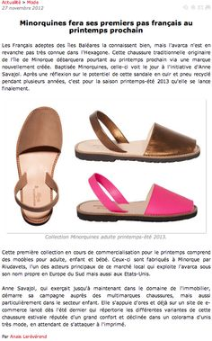 Minorquines dans Fashion Mag (27/11/12)