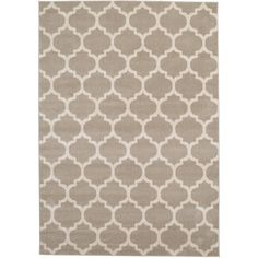 Geometric Trellis Tan 7 ft. x 10 ft. Rug