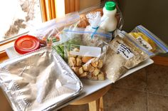 Fantastic list of ideas for foods to take to new mom's or any family in need ~ by Mel's Kitchen Cafe