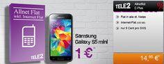 Tele2 Allnet Flat ab 14,95€ mit Galaxy S5 mini für 1€ http://www.simdealz.de/e-plus/tele2-allnet-flat-mit-galaxy-s5-mini/