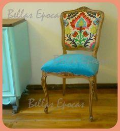 La tapicera silla descalzadora tapizada con tela retro - Sillas antiguas restauradas ...