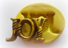 Joy Christmas Mold Mould Resin Clay Fondant Wax Soap Miniature Victorian Jewelry Charms Flexible Molds