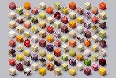 """Os artistas Lernert Engelberts e Sander Plug criaram a arte intitulada """"Cubos"""", feita para ilustrar uma página do jornal """"De Volkskrant""""."""