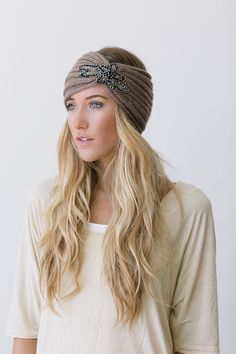 Crystalline Knitted Headband Bohemian Accessories by ThreeBirdNest, $38.00