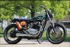 8negro: Yamaha XS650:: Motor Garage Goods.
