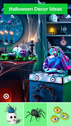 Bring on the spooky Halloween aesthetic with decor, craft & DIY ideas—your haunted house is party-ready. Halloween Tags, Chic Halloween, Halloween Home Decor, Halloween Pictures, Halloween Birthday, Diy Halloween Decorations, Holidays Halloween, Scary Halloween, Halloween Themes