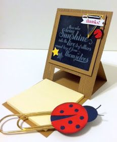 Post-it note holder for teacher :) Create with Gwen, Stampin' Up! Demonstrator, Gwen Edelman, Create with Gwen: Tuesday Morning Stamp Club!