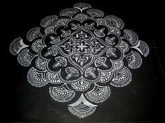 ... Colorful Rangoli Designs, Beautiful Rangoli Designs, Kolam Designs, Padi Kolam, Kolam Rangoli, Back To Nature, Art Drawings Sketches, Simply Beautiful, Art Forms