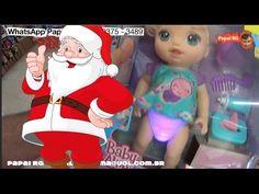 Papai Noel Natal Baby Alive Loira Fraldinha Mágica Festa Borboletas Cuid...