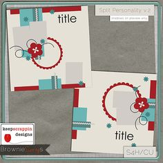 Split Personality v.2 by keepscrappin designs: $1.50 @ www.browniescraps.com