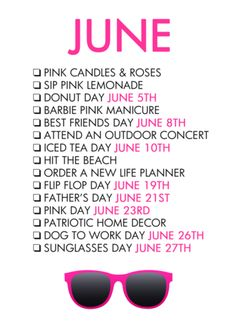 June Life List – The Glam Shop