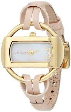 Ted Baker Women's TE2076 Find the Time Custom Analog 3 O'clock Watch Ted Baker. $110.00. Water-resistant to 99 feet (30 M). White Mother-Of-Pearl dial with gold accents; Limited lifetime warranty. Japanese Analog 2-Hand movement. Stainless steel case and stainless steel caseback. High grade genuine leather strap