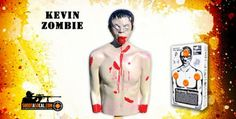 """Blow up """"Kevin"""" zombie target, filled with explosives!"""