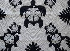 Hawaiian Quilt - I love the turtle and hibiscus together. Hawaiian Quilt Patterns, Hawaiian Pattern, Applique Quilt Patterns, Hawaiian Quilts, Hawaiian Art, Quilting Projects, Quilting Designs, Sewing Projects, Turtle Quilt