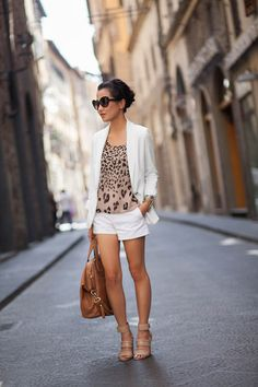 Wendy Nguyen - Toned down animal print look that I actually wouldn't mind wearing! :)