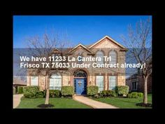 UNDER CONTRACT! 11233 La Cantera Trl Frisco TX 75033   Pool Home for Sale  http://www.316realestate.com/under-contract-11233-la-cantera-trl-frisco-tx-75033-pool-home-for-sale/