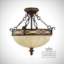 Period semi flush mounted light - interior ceiling and hanging light