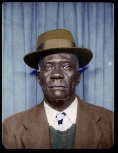 African American Man in a Photo Booth