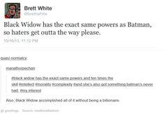 Black Widow vs. Batman