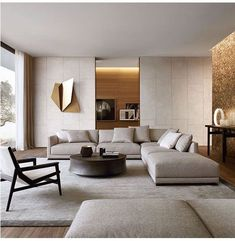 45 Modern Industrial Interior Design Living Room Décor Ideas - HOMYFEED In every age, furniture is made for the same basic purposes. Tables, desks and workbenches provide space for work or … Living Room Modern, Living Room Interior, Home Living Room, Modern Contemporary Living Room, Living Area, Cozy Living, Simple Living, Luxury Living Rooms, Contemporary Sectionals