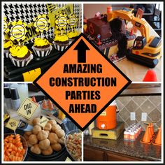 Construction Cake Ideas for Boys | How cool would a paper plate backdrop look at your next party? Learn ...