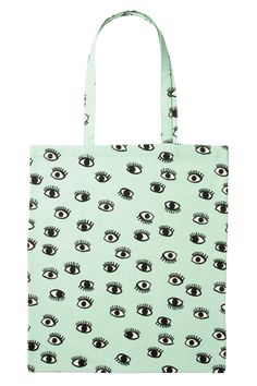 OptomEyesLife Gifts For Glasses Lovers: monki tote bag Jute, Green Purse, Mint, Tote Pattern, Cotton Bag, Textiles, Purses And Bags, Reusable Tote Bags, Shoe Bag