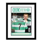 Personalised Celtic Magazine Front Cover Framed. #fathersday #football