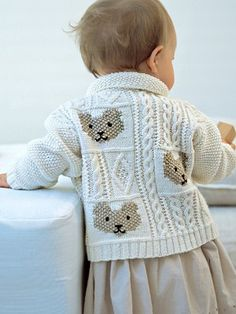 Cable and Teddybear Jacket | Knitting Fever Yarns & Euro Yarns