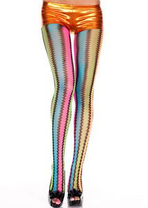 Retro-Vintage-Neon-Zig-Zag-Wave-Striped-Net-Rainbow-Pantyhose-Tights-Rave-Club