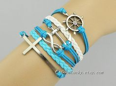 Cross braceletinfinity braceletanchor braceletrudder by goodlucky, $11.99