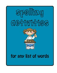 Use these spelling activities to help your child practice their words for the week.