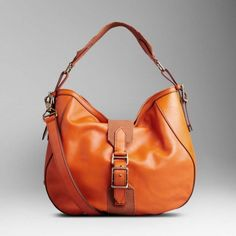 Leather And Canvas Hobo Bag Tangerine Outlet  Burberry 0619  -  182.60    Burberry Outlet 2cfb5f91c859e