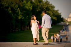 One tip for anyone getting ready to propose to the love of their life – hire a photographer to capture the surprise moment! We absolute love being able to have a behind the scenes look at Wasi and Farheen's DC … Marriage Proposals, Dc Weddings, Getting Engaged, Washington, The Unit, Couple Photos, Photography, Couple Shots, Photograph