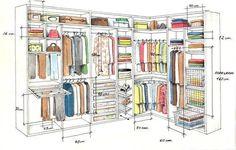 Um closet lindo e ergonômico é um sonho! Aproveite essas dicas sobre as medidas mais indicadas para garantir a ergonomia.