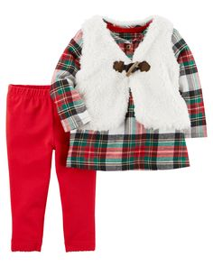 3-Piece Little Vest Set | Carters.com