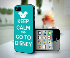 Keep Calm Go To Disney design for iPhone 4 or 4s case