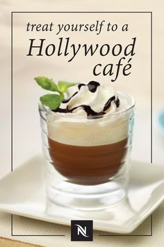 Treat yourself like the star you are with this easy recipe for Hollywood Café. This indulgent coffee drink combines the bold intensity of Roma Grand Cru with mint, chocolate, and whipped cream to create a sweet treat that you won't be able to get enough of. Share this elegant recipe with friends for an after-dinner coffee that's sure to delight.