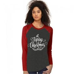 059a1c64bf0 Dresswel Women Merry Christmas Letter Print Round Neck Long Sleeves Casual Tops  Tee Shirt  dresswel