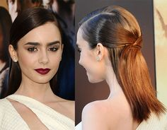 Easy Hairstyle How To: Lily Collins Half-Up Hairstyle | Beauty High