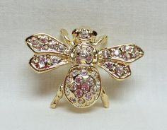 Vintage Bumble Bee Brooch Signed Roman Gold by GreenBeeKC on Etsy, $9.95